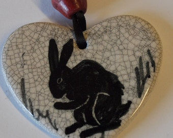 Rabbit heart hanging