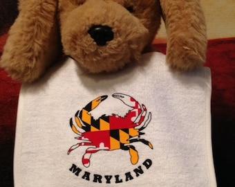Maryland Crab Flag Baby Bib