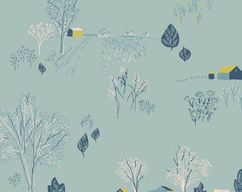 Bountiful - Scenic Blue Sky - Sharon Holland - Art Gallery Fabrics - Fabric By the Half Yard