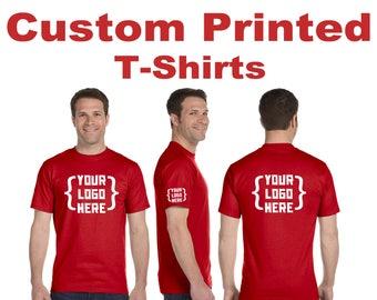 Custom Printed Mens T-shirts,  Custom printed tees, Screen Printed tshirts Personalized