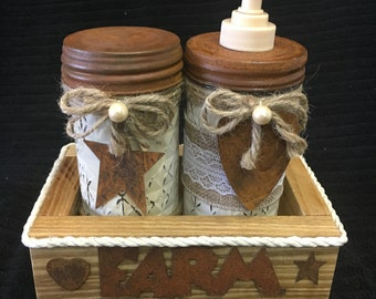 Chalk Painted Jelly Jars