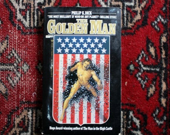 First Edition The Golden Man by Philip K Dick.  First Edition 1980 Berkley Paperback Book. Classic Trippy Mind Bending Science Fiction