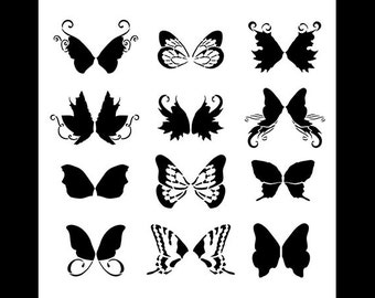 """Faery Wings Art Stencil - 12"""" x 12""""- SKU:STCL887"""
