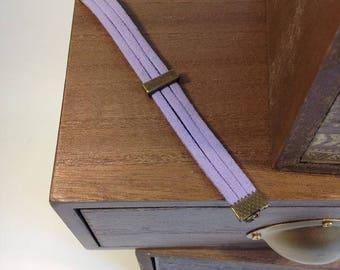 Purple suede child bracelet