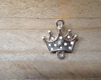 Gray small Princess Crown pendant connector