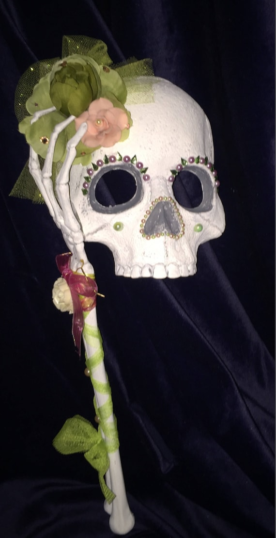 Pale Floral Romantic Original Sugar Skull Masquerade Halloween Day Of The Dead Biohazard Baby Mask