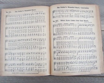 Vintage Sheet Music Vintage Hymnal Music Book Old Time Hymns Church Music The Gospel Message