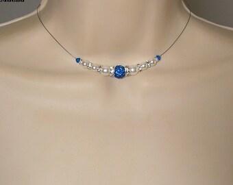 Bridal rhinestone blue caprie Romantica Collection lily wedding ceremony ♥ ♥