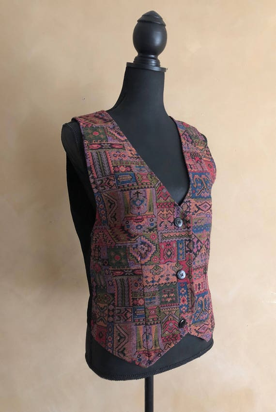 Vintage Tapestry Vest - 70's/80's - Baxter Wells