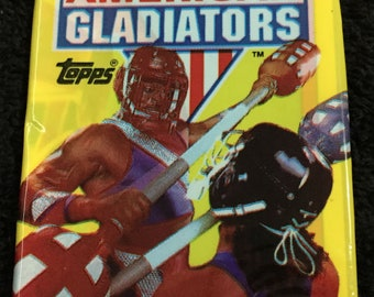 1x Unopened Wax Pack of 1991 American Gladiators Trading Cards from Pacific