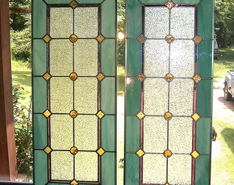 Stained Glass Sidelight or Transom - Vintage Style Sidelights - Mardi Gras