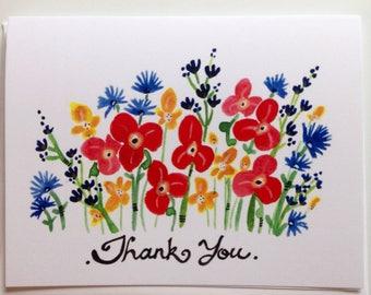 Thank you card 4.25x5.5 blank inside