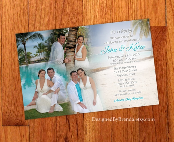blended photo collage wedding invitation large size perfect
