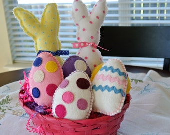 Easter Bunny's and Egg's Bunnies 9.00 each Eggs 4.00 each