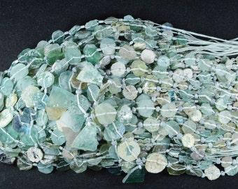 Roman Glass Beads -- Ancient Roman Glass Fragment Beads 100 BC -- 1 STRAND RM11