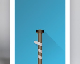 Minimalist Old Yankee Stadium (LOUISVILLE BAT)   Ballpark Art Print   New  York Yankees