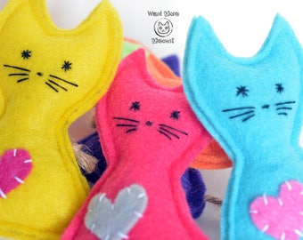 Cat toys, Cat toy catnip, Felt cat toy, Organic catnip toy, Kawaii cat toy, Unique cat toy,Cute cat toy, Vegan, Eco friendly, Cruelty-free