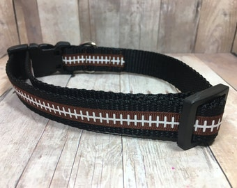 "The Leather II | Designer 3/4"" Width Dog Collar | CupcakePups Collars | Small/Medium Dog Collar"