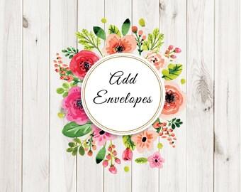 Add Envelopes to Print Order