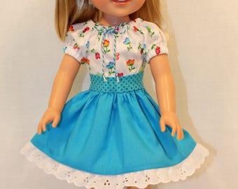L'il Miss Sunshine-Peasant Dress, 14.5 Inch Doll Clothing