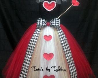 Heart Queen Tutu Dress Costume, Heart Tutu Dress, Valentine Tutu, Heart Tutu, Birthday Party Tutu, Heart Queen Halloween Costume