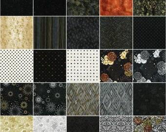 Precious Metals Fat Quarter Bundle, 15 Pieces, Flaurie & Finch, RJR Fabrics, Precut Fabric, Quilt Fabric, Cotton Fabric, Modern Fabric