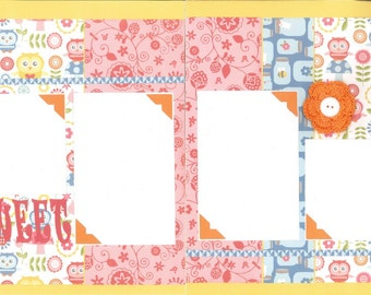 12x12 SO SWEET scrapbook page kit, premade scrapbook, 12x12 premade scrapbook page, premade scrapbook page, 12x12 scrapbook layout
