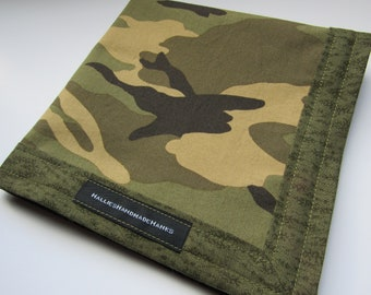Camouflage EDC Hank Handmade Hank Everyday Carry Pocket Dump Hank Mens Handkerchief Gift for Him Father's Day Gift Serviceman Hank