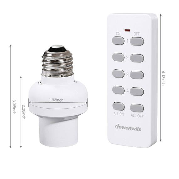Wireless Remote Control Light Socket Lamp Switch