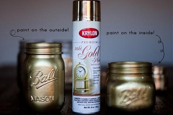 18 Karat Premium Gold Plate Metallic Finish Spray Paint