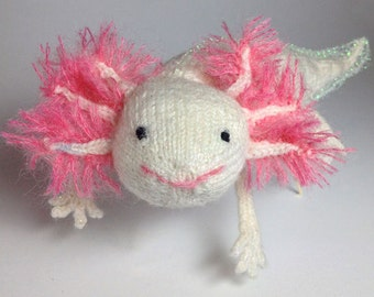 Knitted Axolotl Card - Salamander GREETING CARD