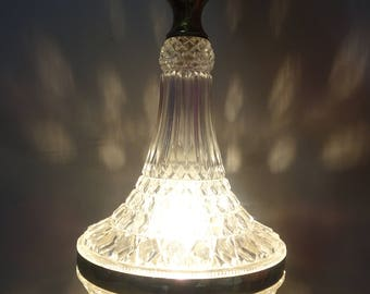 Pendant light crystal with yellow copper years 60