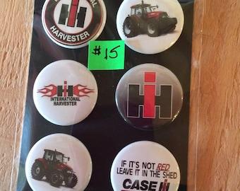 "1.50"" Button Magnets - Case IH"