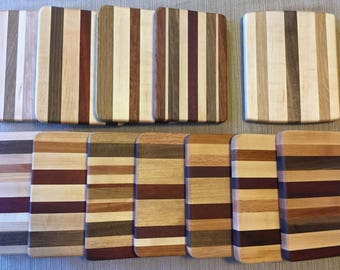 Striped cutting board, small