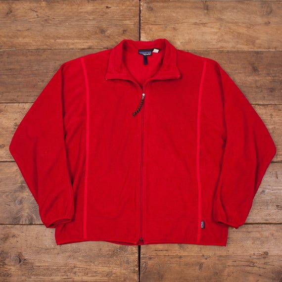 "Mens Vintage Patagonia Fleece Jacket Red XL 48"" R4924 t3VhZUpZ"