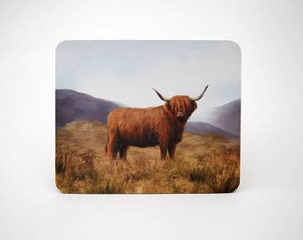 Highland Cow Mouse Mat