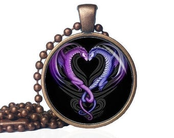 Dragon heart pendant etsy dragon love dragon heart pendant dragon necklace dragon pendant dragons dragon art mythical necklace mystical jewelry mozeypictures Gallery