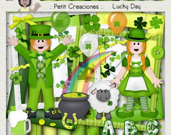 "KIT SCRAPBOOKING DIGITAL ""Lucky day"""