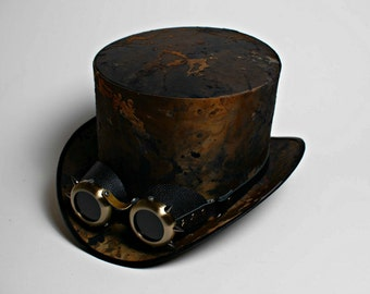 Modern Set of Steampunk Men Top Hat with Goggles Wedding Victorian Mens Hats Womens Tophat Steam Punk Cosplay Personalized Gothic Adult Hat