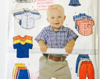 Uncut Butterick baby 6030, infant shirt tshirt pants & hat, size L/XL, baby sewing pattern, infant sewing pattern, butterick baby pattern