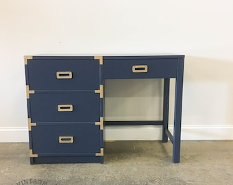 CUSTOMIZABLE: Campaign Style Desk / Vanity
