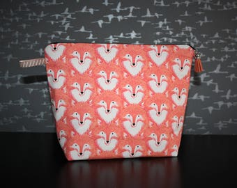 Patterned cotton toilet Kit pretty foxes heads! Original
