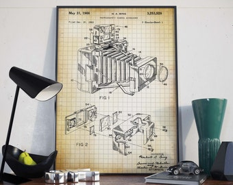 Camera Patent Print| Vintage Camera Poster| Gift for Photographer| Home Decor| Gift for Director| HPH044