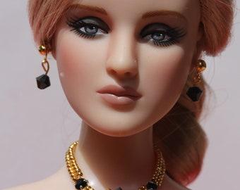 "ooak doll jewelry set for FR 16, Sybarite, Poppy Parker Fashion Teen, Tonner 16"" dolls, Kingdom dolls"
