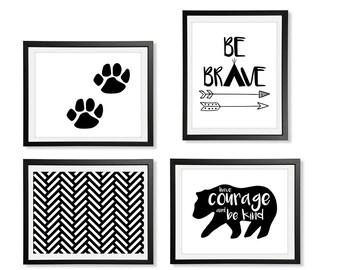 Tribal Nursery, Greatest Adventure, Be Brave Little One, Tribal Print, Arrow Print, Tribal Printable Art, Be Brave Wall Decor