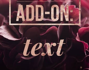 Add-on: Text
