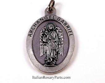 Large Italian St Gabriel the Archangel Medal    Italian Rosary Parts