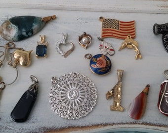 Lot of Pendants and Charms