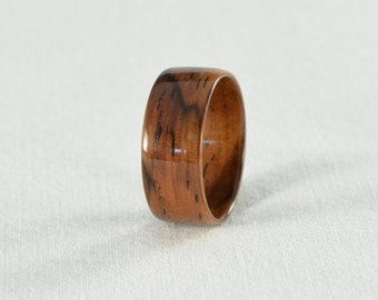 Wood Ring - Cocobolo Bentwood Ring - Wedding Ring, Wedding Band, or Engagement Ring - All Natural - Handmade