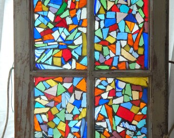 Vintage Window--Wild Mosaics